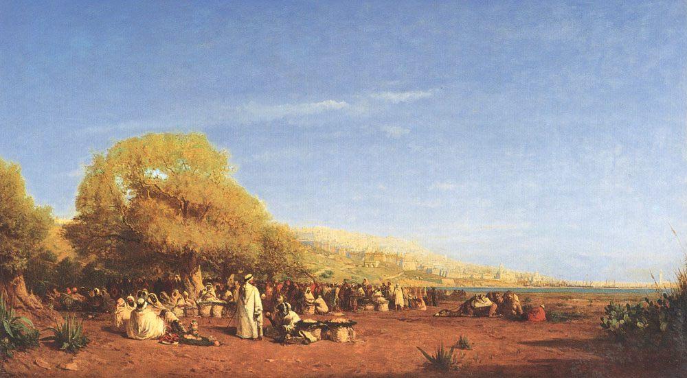 The Market :: Felix Ziem - Street and market genre scenes ôîòî