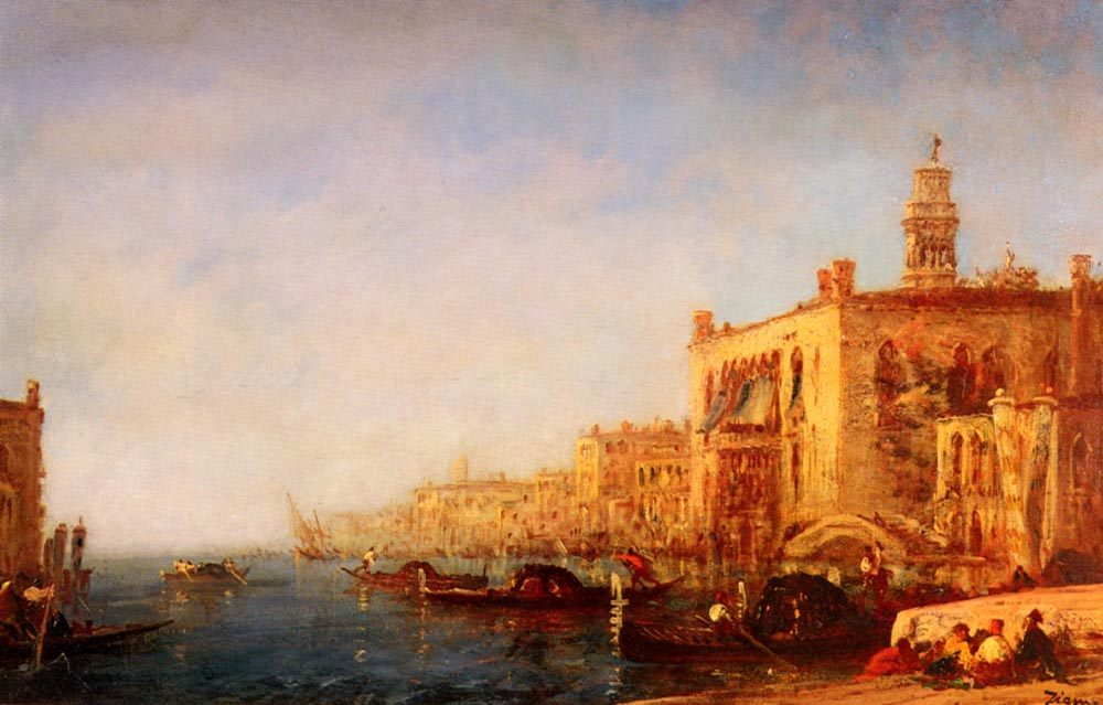 Venise, Le Grand Canal :: Felix Ziem - Venice фото