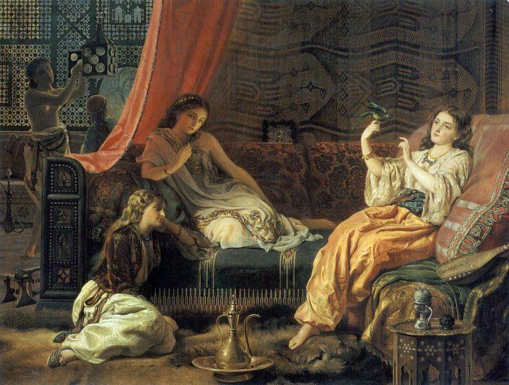 The Harem  - Arab women (Harem Life scenes) in art  and painting ôîòî