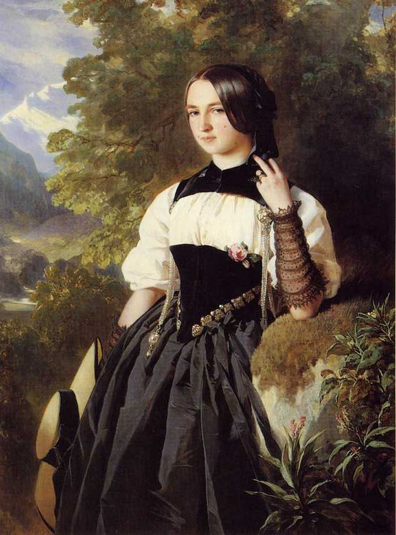 A Swiss Girl from Interlaken :: Franz Xavier Winterhalter - 6 woman's portraits hall ( The middle of 19 centuries ) in art and painting фото