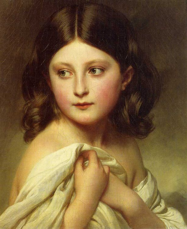 A Young Girl called Princess Charlotte :: Franz Xavier Winterhalter - Portraits of young girls in art and painting фото