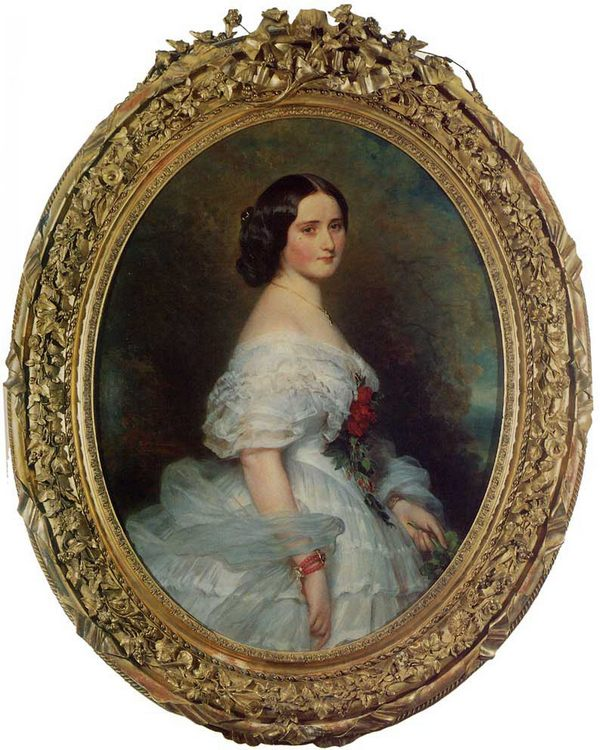 Anna Dollfus, Baronne de Bourgoing :: Franz Xavier Winterhalter - 6 woman's portraits hall ( The middle of 19 centuries ) in art and painting фото