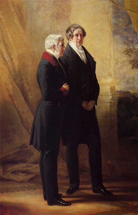 Arthur Wellesley, 1st Duke of Wellington with Sir Robert Peel :: Franz Xavier Winterhalter - men's portraits 19th century фото