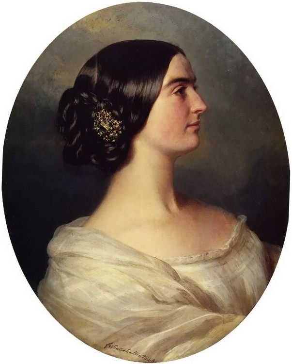 Charlotte Stuart, Viscountess Canning :: Franz Xavier Winterhalter - 6 woman's portraits hall ( The middle of 19 centuries ) in art and painting фото