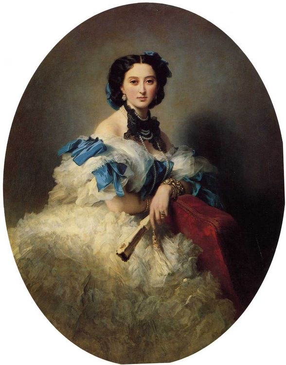 Countess Varvara Alekseyevna Musina-Pushkina :: Franz Xavier Winterhalter - 6 woman's portraits hall ( The middle of 19 centuries ) in art and painting фото