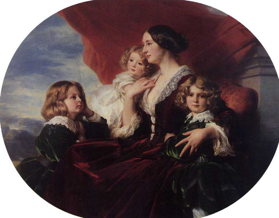 Elzbieta Branicka, Countess Krasinka and her Children :: Franz Xavier Winterhalter - Family Portrait фото