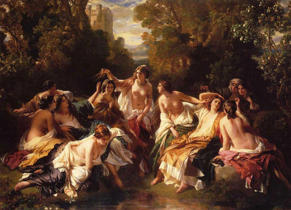 Florinda :: Franz Xavier Winterhalter - nu art in mythology painting ôîòî