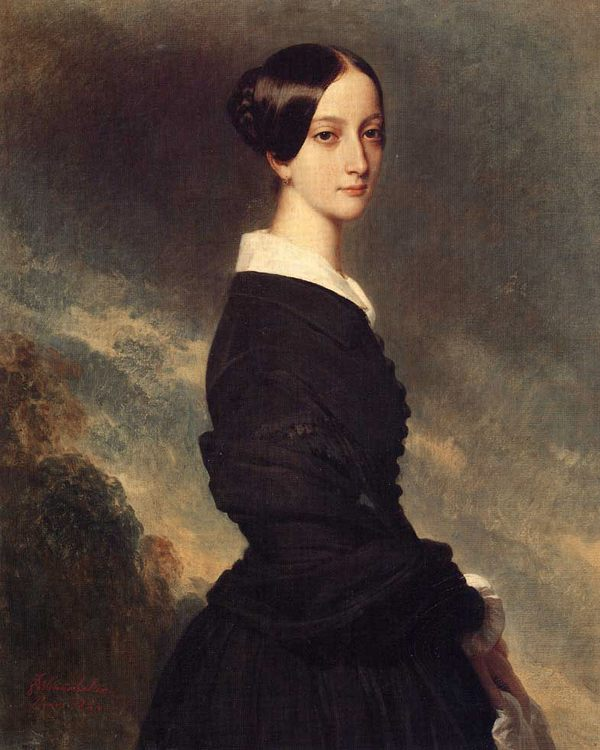 Francoise Caroline Gonzague, Princesse de Joinville :: Franz Xavier Winterhalter - 6 woman's portraits hall ( The middle of 19 centuries ) in art and painting ôîòî