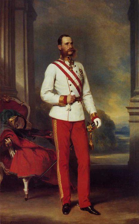 Franz Joseph I, Emperor of Austria :: Franz Xavier Winterhalter - History painting фото