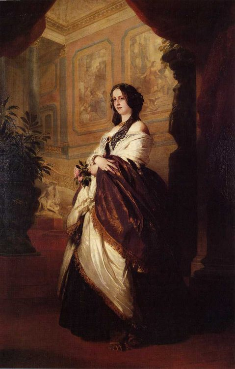 Harriet Howard, Duchess of Sutherland :: Franz Xavier Winterhalter - 6 woman's portraits hall ( The middle of 19 centuries ) in art and painting фото