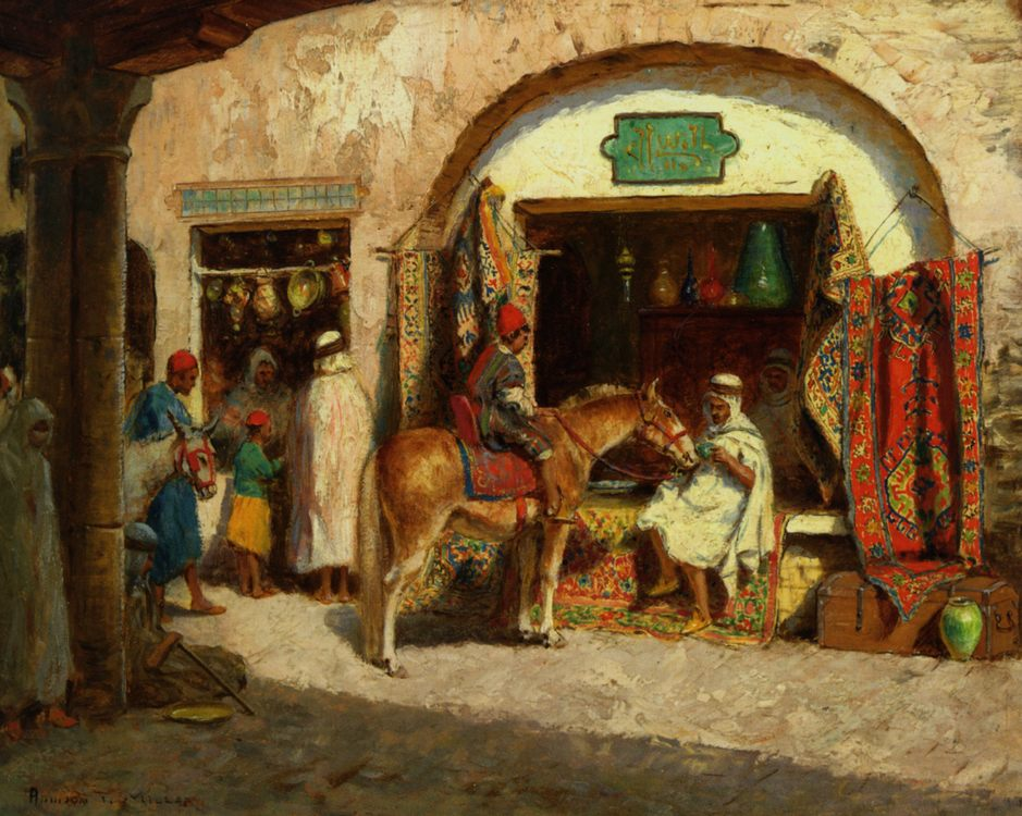 In The Market :: Addison Thomas Millar - scenes of Oriental life ( Orientalism) in art and painting фото
