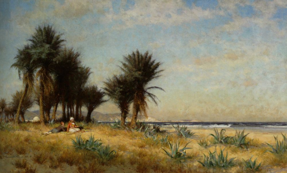 Moroccan Costal Scene :: Alfred Wordsworth Thompson - Coastal landscapes фото