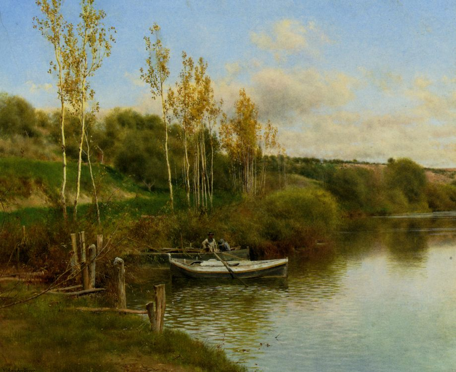 Summer Day :: Emilio Sanchez Perrier - River landscapes ôîòî