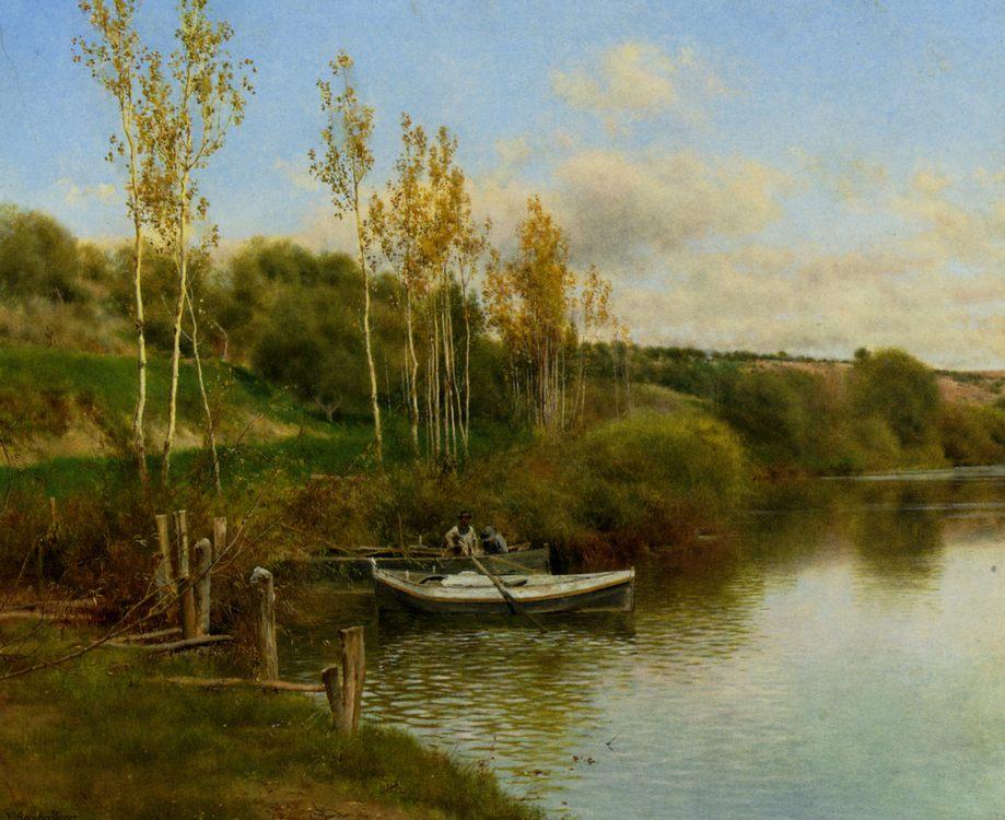 Summer Day :: Emilio Sanchez Perrier - River landscapes фото
