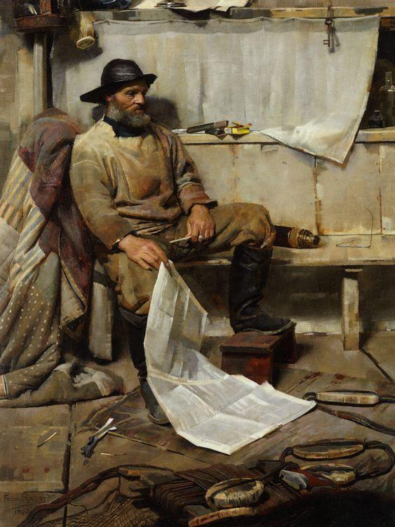 Fisherman :: Frank Richards, R.B.A. - men's portraits 19th century (second half) фото