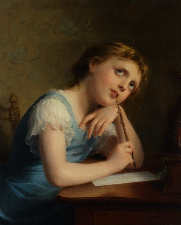 Distant Thoughts :: Fritz Zuber-Buhler - Portraits of young girls in art and painting фото