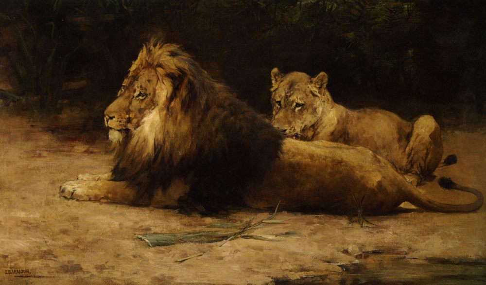 Lion and Lioness :: George Denholm Armour - Animals фото