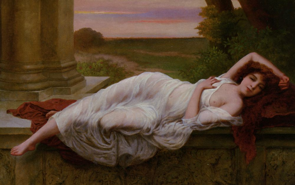 Reclining Beauty :: Vincent G. Stiepevich - Antique beauties in art and painting фото