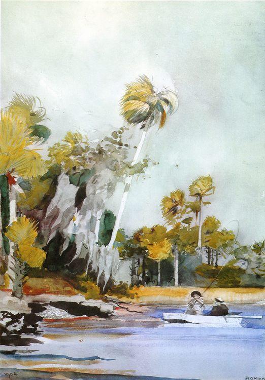 The Shell Heap :: Winslow Homer - Sea landscapes with boats ôîòî