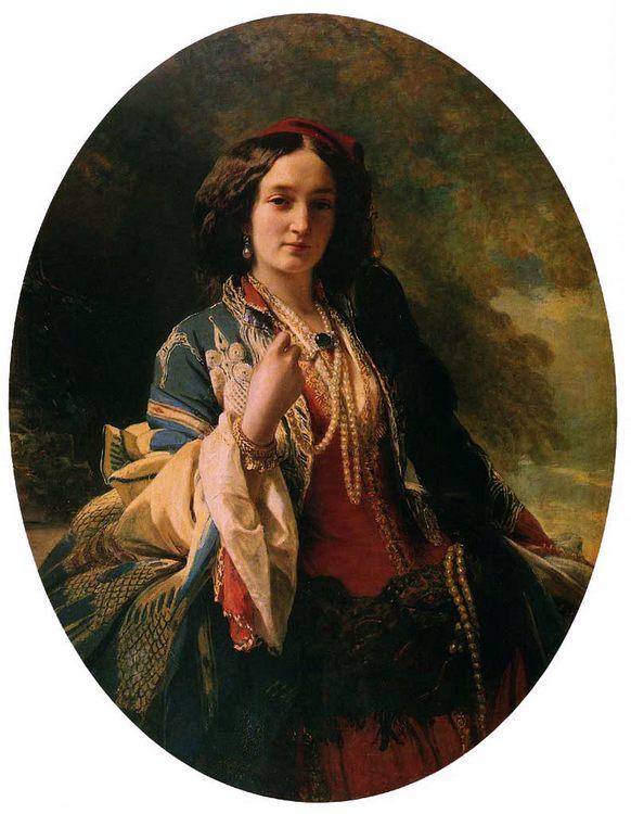 Katarzyna Branicka, Countess Potocka :: Franz Xavier Winterhalter - 6 woman's portraits hall ( The middle of 19 centuries ) in art and painting ôîòî