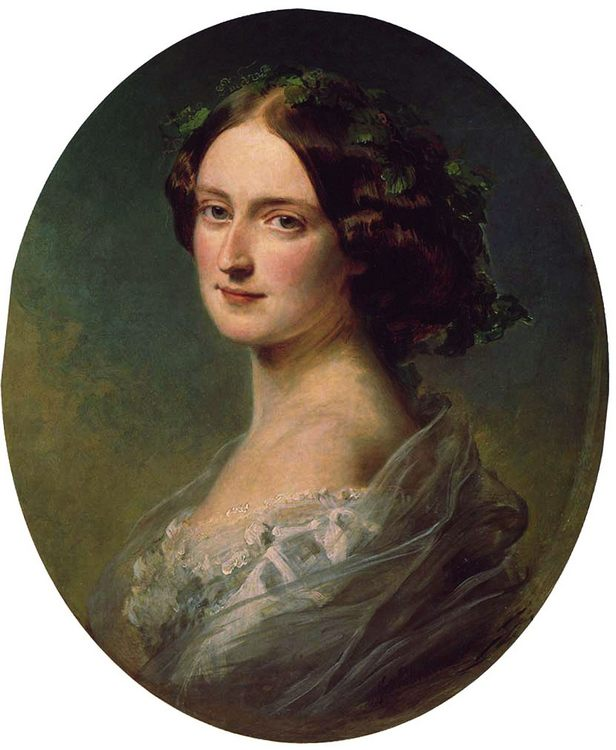 Lady Clementina Augusta Wellington Child-Villiers :: Franz Xavier Winterhalter - 6 woman's portraits hall ( The middle of 19 centuries ) in art and painting фото