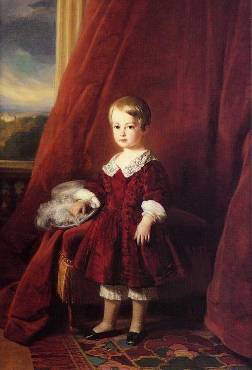 Louis Philippe Marie Ferdinand Gaston D'Orleans, Comte D'Eu :: Franz Xavier Winterhalter - Portraits of young boys фото