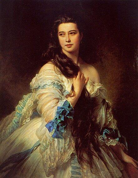 Madame Barbe de Rimsky-Korsakov :: Franz Xavier Winterhalter - 6 woman's portraits hall ( The middle of 19 centuries ) in art and painting ôîòî