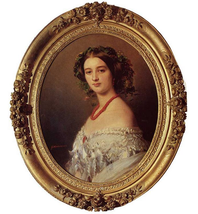 Malcy Louise Caroline Frederique Berthier de Wagram, Princess Murat :: Franz Xavier Winterhalter  - 6 woman's portraits hall ( The middle of 19 centuries ) in art and painting ôîòî