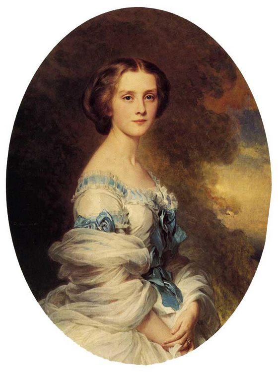 Melanie de Bussiere, Comtesse Edmond de Pourtales :: Franz Xavier Winterhalter - 6 woman's portraits hall ( The middle of 19 centuries ) in art and painting ôîòî
