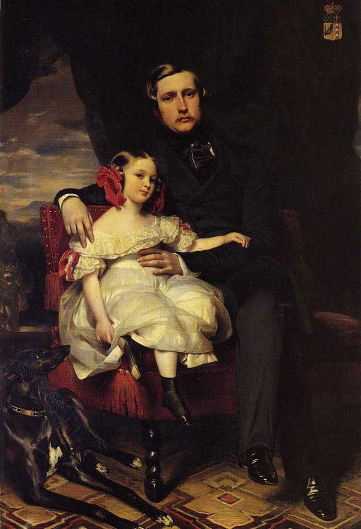 Napoleon Alexandre Louis Joseph Berthier, Prince de Wagram and his Daughter, Malcy Louise Caroline Frederique :: Franz Xavier Wi - men's portraits 19th century (first half) ôîòî