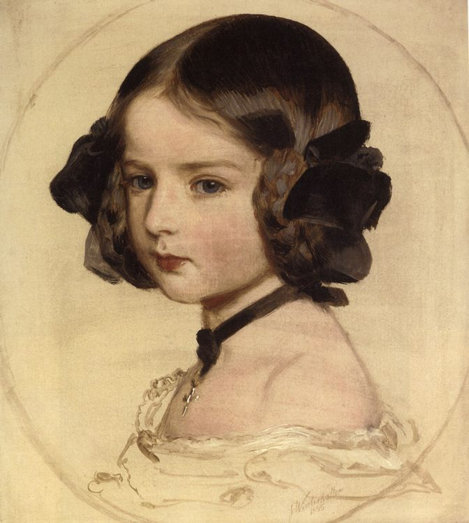 Pincess Clothilde von Saxen Coburg :: Franz Xavier Winterhalter  - Portraits of young girls in art and painting фото