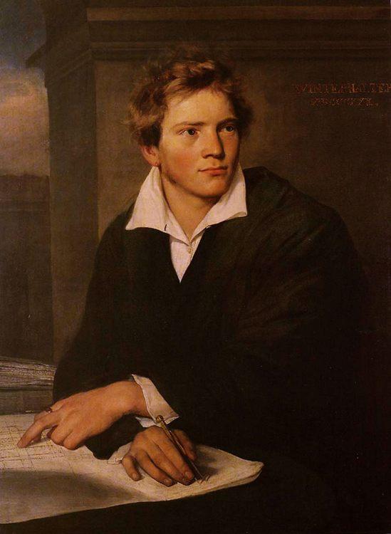Portrait of a Young Architect :: Franz Xavier Winterhalter - men's portraits 19th century (first half) ôîòî