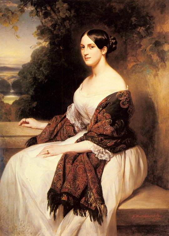 Portrait of Madame Ackerman, the wife of the Chief Finance Minister of King Louis Philippe :: Franz Xavier Winterhalter - 6 woman's portraits hall ( The middle of 19 centuries ) in art and painting фото