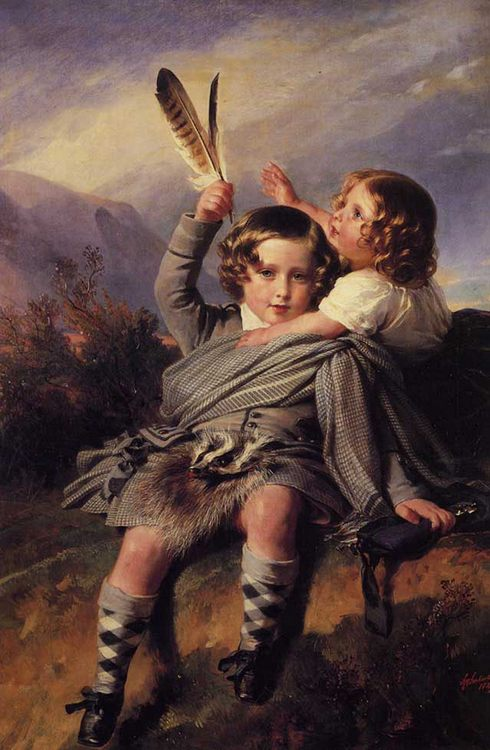 Prince Alfred and Princess Helena :: Franz Xavier Winterhalter - Children's portrait in art and painting фото