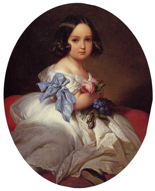 Princess Charlotte of Belgium :: Franz Xavier Winterhalter - Portraits of young girls in art and painting фото