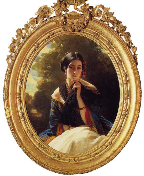 Princess Leonilla of Sayn Wittgenstein-Sayn :: Franz Xavier Winterhalter - 6 woman's portraits hall ( The middle of 19 centuries ) in art and painting фото