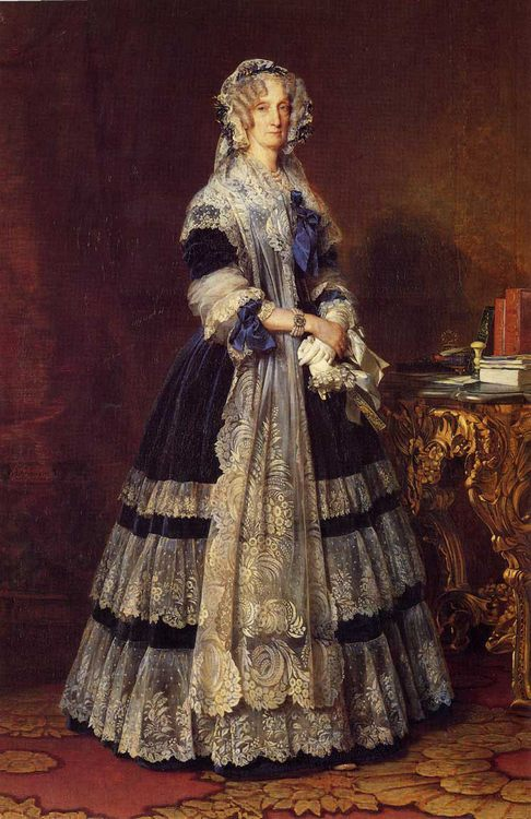 Queen Marie Amelie :: Franz Xavier Winterhalter - Portraits of women of advanced age фото