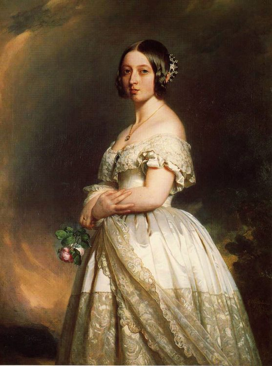 Queen Victoria :: Franz Xavier Winterhalter - 6 woman's portraits hall ( The middle of 19 centuries ) in art and painting фото