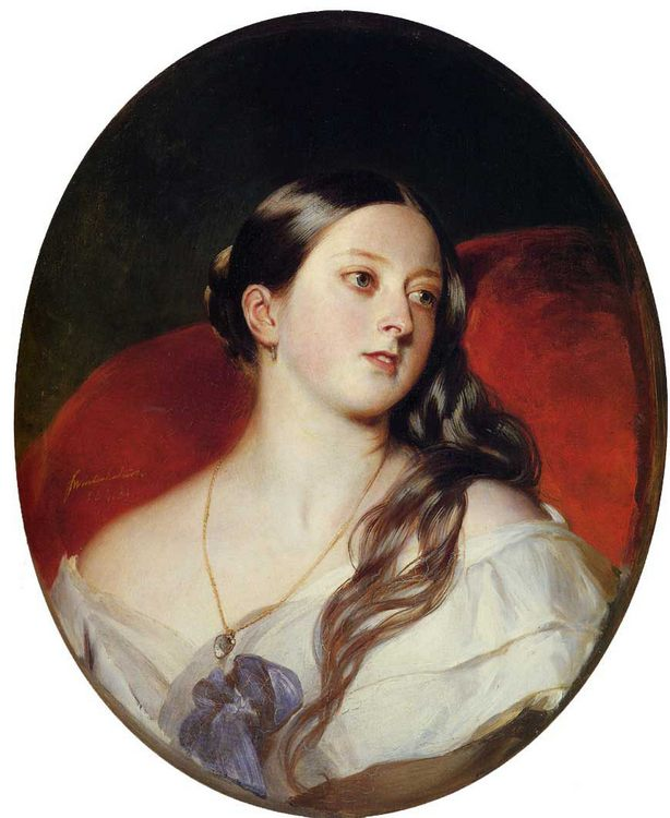 Queen Victoria :: Franz Xavier Winterhalter - 6 woman's portraits hall ( The middle of 19 centuries ) in art and painting ôîòî