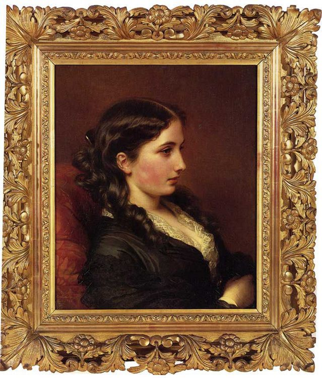 Study of a Girl in Profile :: Franz Xavier Winterhalter - 6 woman's portraits hall ( The middle of 19 centuries ) in art and painting фото