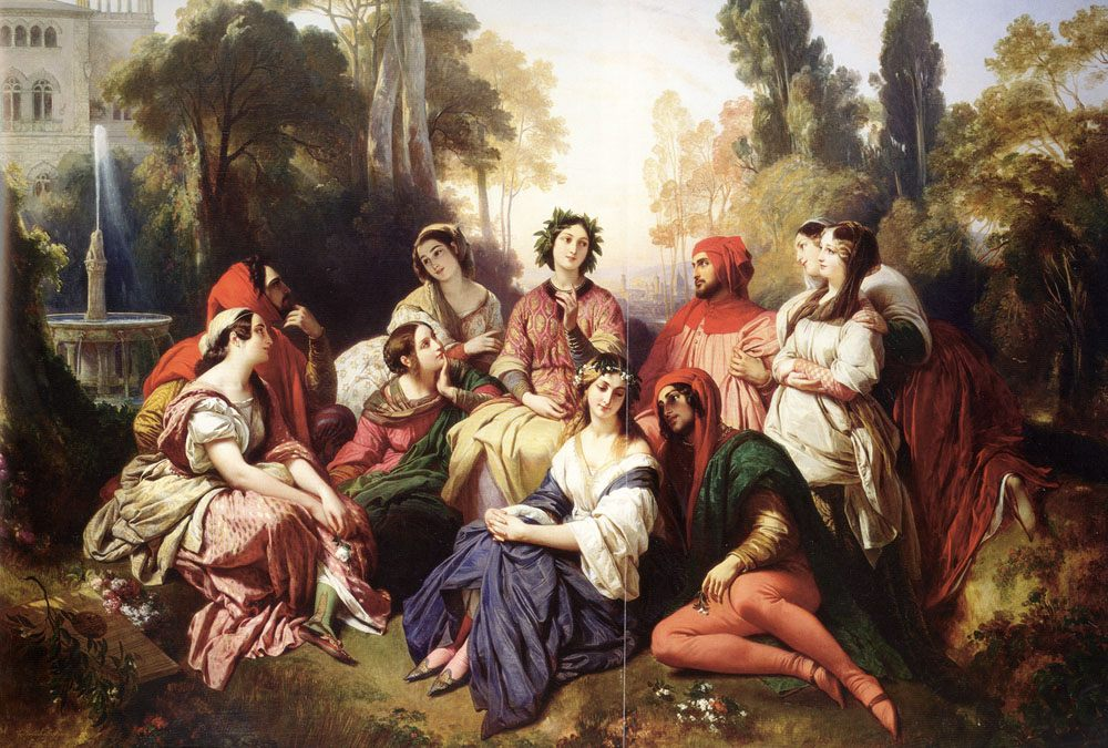 The Decameron :: Franz Xavier Winterhalter  - mythology and poetry фото