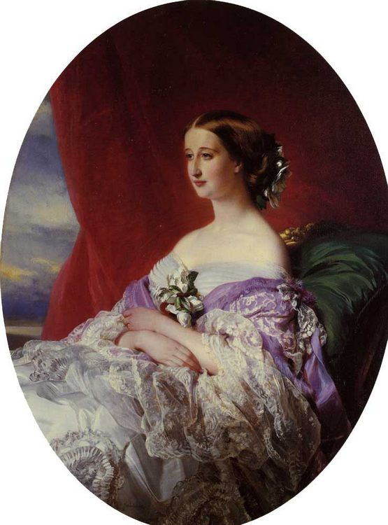 The Empress Eugenie :: Franz Xavier Winterhalter - 6 woman's portraits hall ( The middle of 19 centuries ) in art and painting фото