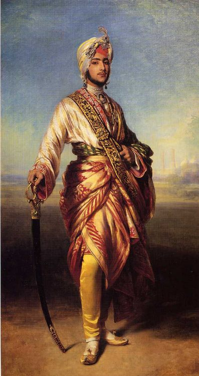 The Maharajah Duleep Singh :: Franz Xavier Winterhalter - men's portraits 19th century (second half) фото