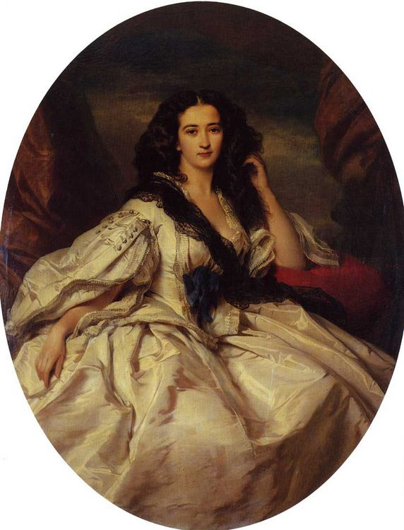 Wienczyslawa Barczewska, Madame de Jurjewicz :: Franz Xavier Winterhalter - 6 woman's portraits hall ( The middle of 19 centuries ) in art and painting ôîòî
