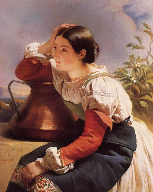 Young Italian Girl by the Well :: Franz Xavier Winterhalter - Young beauties portraits in art and painting фото