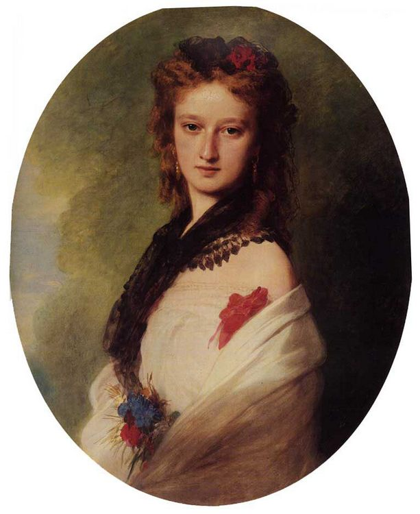 Zofia Potocka, Countess Zamoyska :: Franz Xavier Winterhalter - 7 female portraits ( the end of 19 centuries ) in art and painting фото