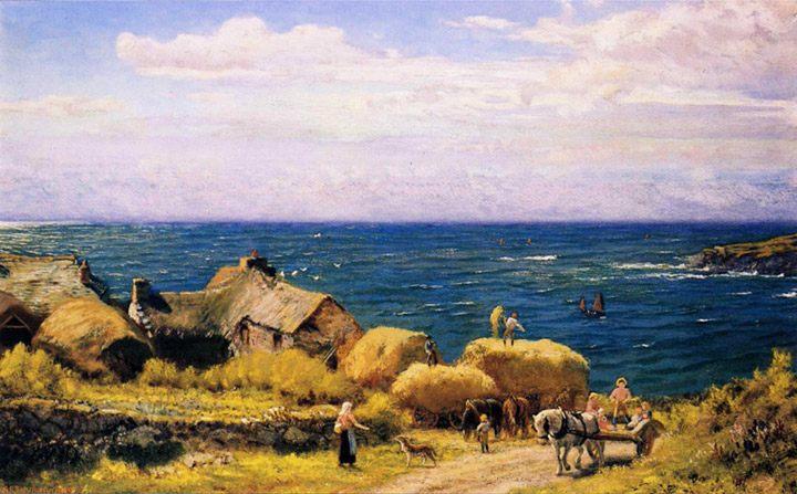Harvesting, Porthleven :: Arthur Hughes - Coastal landscapes ôîòî