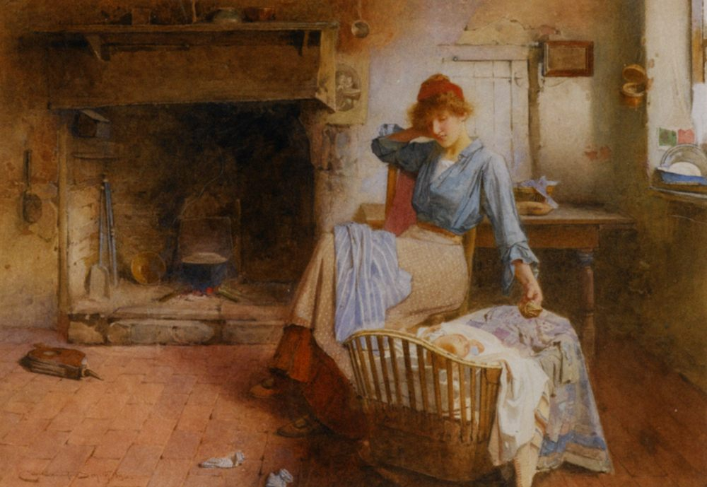 Playtime :: Carlton Alfred Smith - Woman and child in painting and art фото