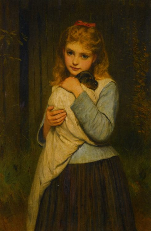 Foster Mother :: Charles Sillem Lidderdale - Portraits of young girls in art and painting фото