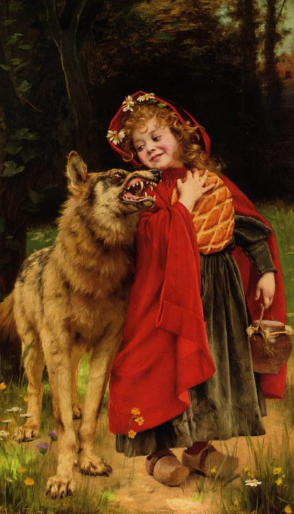 Little Red Riding Hood :: Gabriel Joseph Marie Augustin Ferrier - Art scenes from literary works фото